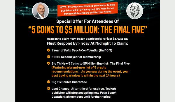 Palm Beach Confidential Final Offer