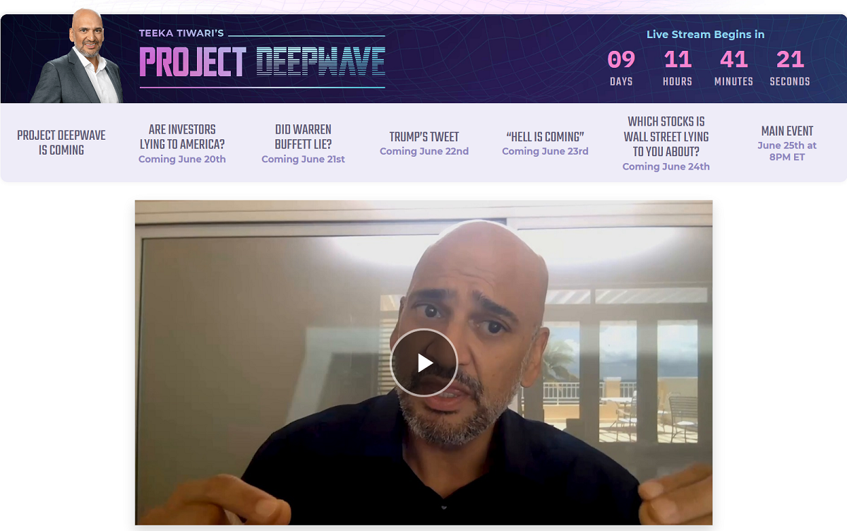 Project DEEPWave by Teeka Tiwari: NEW 2-minute Trade Has The Power to Generate an Average of $19,740