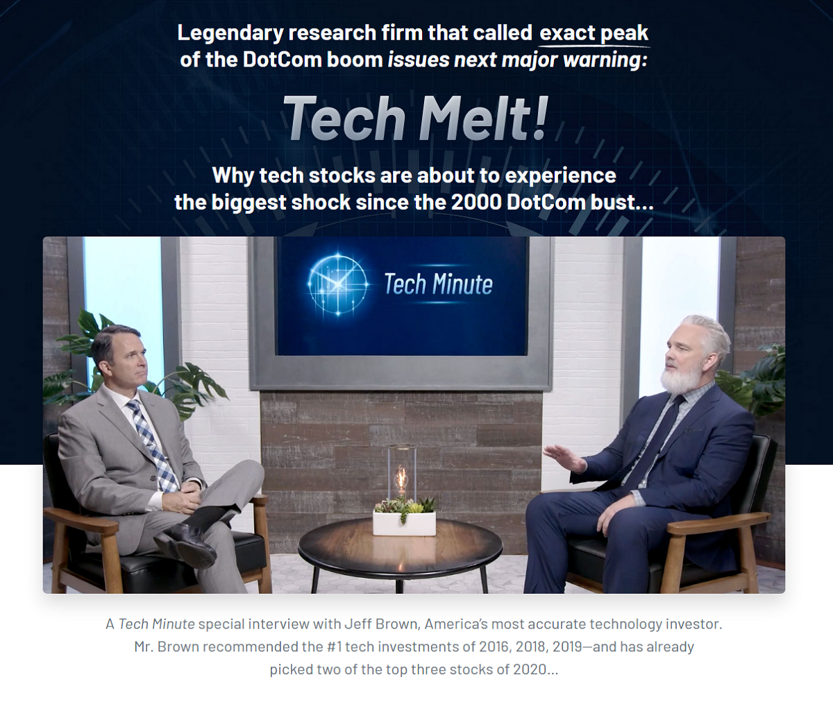 Jeff Brown Second Wave: Tech Melt – Near Future Report