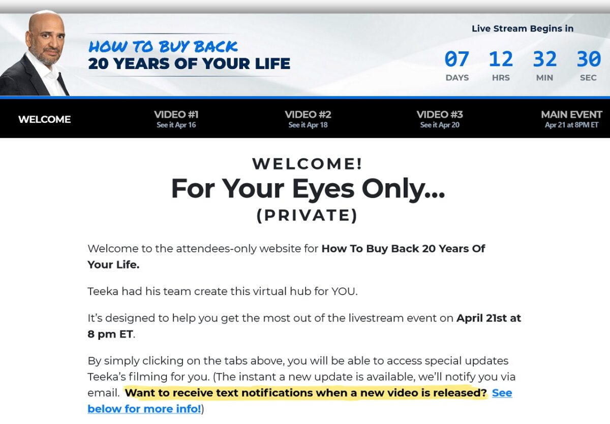 Teeka Tiwari's Anomaly Window Stocks: How To Buy Back 20 Years Of Your Life Event