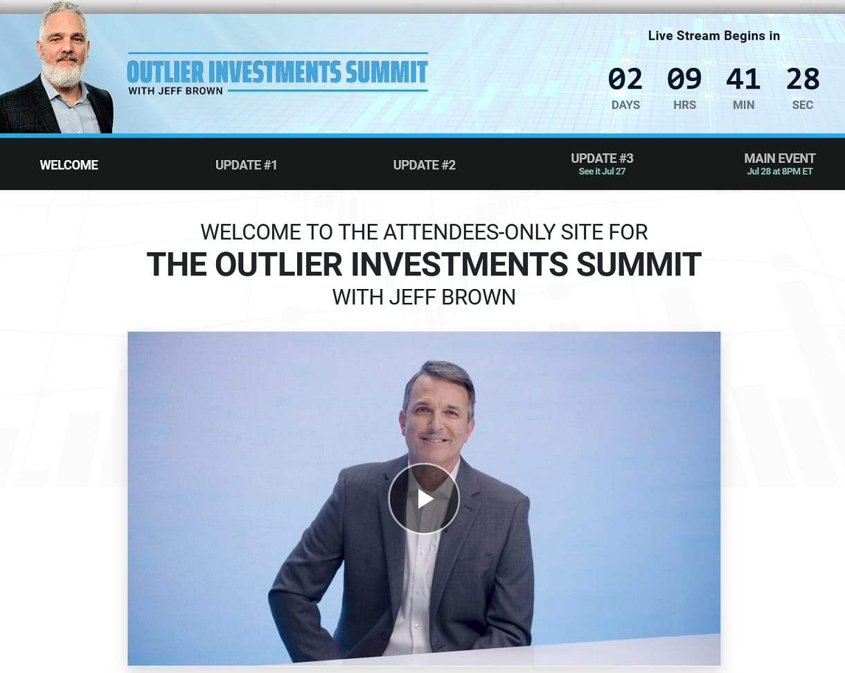 Outlier Investments Summit - What Is Jeff Brown's Nasdaq Glitch