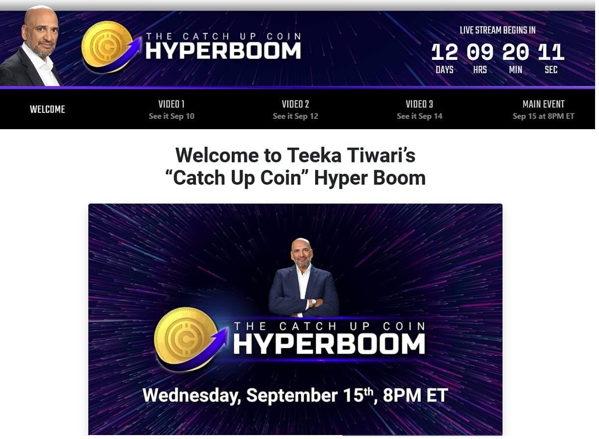 Teeka Tiwari Catch Up Coin Hyper Boom Review